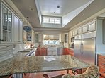 The gourmet kitchen comes fully equipped with everything you'll need to prepare your favorite home-cooked meals.