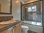 There are 3 pristine bathrooms in the home.
