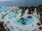 Lido with children's slides and other pools
