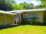 Ho'ohauoli is a comfortable, air conditioned home 5 minutes from Pahoa Village