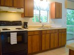 Kitchen has all the small and large appliances you'll need