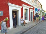 Art Galleries and Restaurants Steps Away