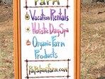 papalani farm sign out at the road
