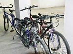 5 free bikes for your use. (Based on availability and reservation required).