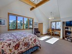 Gold Flake Chalet Upper Level Master Bedroom Breckenridge Lodgin