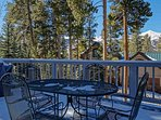 Gold Flake Chalet Deck off Dining Room Breckenridge Lodging Vaca