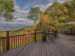Deck seating to enjoy the expansive views