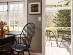 Easy access to outdoor screened deck.