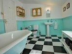 First Floor Bathroom with Victorian Cast Iron Bath