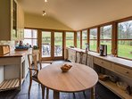 Kitchen with views up to Pen-y-Fan