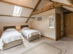 First floor bedroom which can be a superking size double or twin en suite