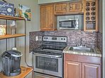Cook up a tasty meal in the kitchenette!