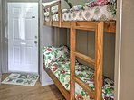 Kids will love alternating between the top and bottom bunks of these built-in bunk beds!