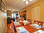 Gather around the dining table to enjoy your delicious homecooked meals!