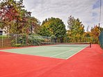 Bring out your competitive side on the tennis courts!