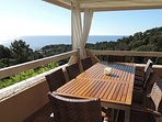 Terrasse cuisine d'été