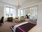 Master bedroom with stunning views