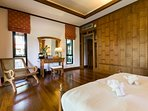 Teak Panelling in Master Bedroom