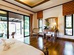 Master Bedroom leading to Pool Terrace & Veranda