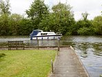 Mooring leading out onto main river Bure.