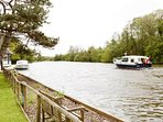 River Bure .Bench to sit along our quay head to enjoy the views.