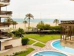 Playa Gandia, alquiler apartamento 1ª lin. garaje,