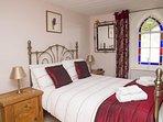 Double bedroom with comfortable memory foam mattress.