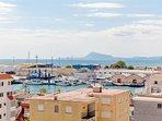 Vistas al puerto desde la terraza