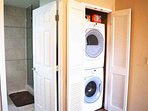 Washer and Dryer upstairs