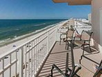 Long-range views of the beach and Gulf from 6th floor balcony