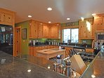 Large kitchen with plenty of counter space