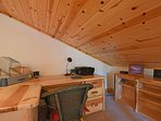 With a desk space to work at