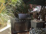 NEW LARGE STAINLESS STEEL BBQ WITH SINK