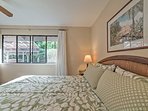 Look forward to retreating to the spacious master bedroom at day's end.