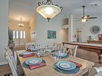 Enjoy family meals in the dining room.