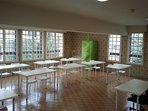 Conference room, set up as a class room on this occasion