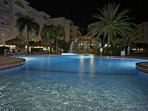 Front pool at night... Aruba has perfect temps for dips after dark.