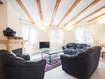 The spacious lounge.