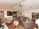 Our spacious living area allows families to spend quality vacation time together.