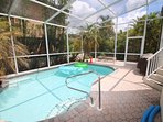 Large, private heated pool & BBQ grill