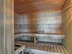Sit back in the sauna.