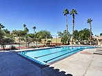 Soak up that California sunshine at the community swimming pool.