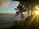 Enjoy gorgeous sunrises from Hokulani Kai on Kapoho Bay, Hawaii