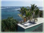 Your own private hot tub on the rooftop deck of Hokulani Kai!