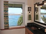 We even have ocean views from the master bathroom! Like being on a cruise ship at Hokulani Kai!