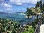 View of Kapoho Bay from the rooftop deck of Hokulani Kai, Kapoho, Hawaii