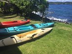 Kayaks for guests to use (at your own risk, of course!)