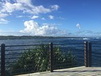 Rooftop deck of Hokulani Kai with panoramic views of Kapoho Bay...truly amazing!