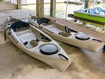 Kayaks and Pedal Boat on the canals.  Bicycles(complimentary).  Other water toys can be rented.
