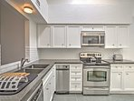 The newly remodeled kitchen features everything you need for home-cooking!
